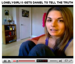 YouTube Video of LonelyGirl15