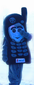 Rogers Cell Phone Mascot