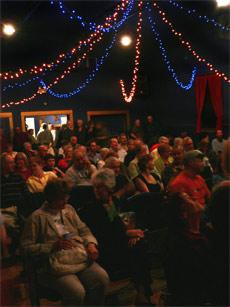 Inside Dancing Sky Theatre, in Meacham, SK