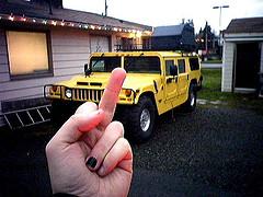 H2 Humvee Fingered