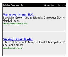 Sinking Titanic Model - Ad
