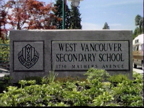 West Vancouver Secondary School sign